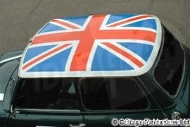 Union Jack pour toit. Austin Mini