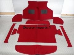 Moquette 10 pièces 'rouge' finition luxe. Austin Mini