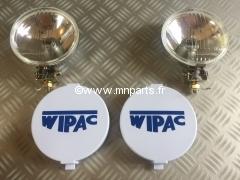 Paire de phares longue portée Wipac 140mm