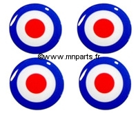 Badges autocollants 'Cercle' 42 mm. Austin Mini
