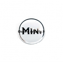 Badge autocollant 'MINI' blanc 42 mm. Austin Mini.