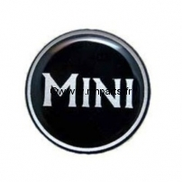 Badge autocollant 'MINI' noir 42 mm. Austin Mini.