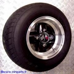 Pack jantes et pneus 6''/10'' Révolution Noir Austin Mini