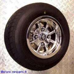Pack jantes et pneus 6''/10'' Minilight Retro Chromé. Austin Mini.