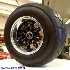 Pack jantes et pneus 6''/10'' Ultralite Noir Austin Mini