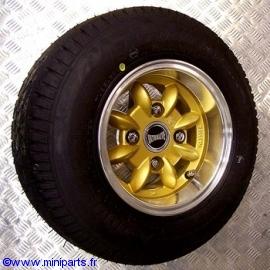 Pack jantes et pneus 6''/10'' Ultralite Gold Austin Mini