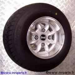 Pack jantes et pneus 6''/10'' Ultralite Silver. Austin Mini