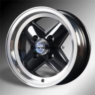 Jante 5''X12'' Revolite Noire, bord poli. Austin Mini