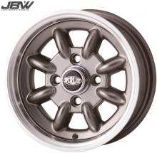 Pack 4 jantes & pneus 5x12'' anthracite SUPERLIGHT gros déport Austin Mini