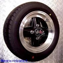 Pack 4 jantes & pneus 5x12'' Revolution noir, gros deport Austin Mini
