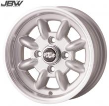 Pack 4 jantes & pneus 5x12'' silver SUPERLIGHT gros déport Austin Mini