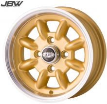 Pack 4 jantes & pneus 5x12'' gold SUPERLIGHT gros déport Austin Mini
