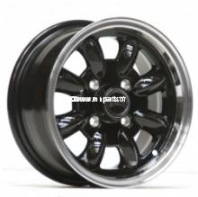 Pack 4 jantes & pneus 5,5x12'' ULTRALITE noir, bord poli. Austin Mini