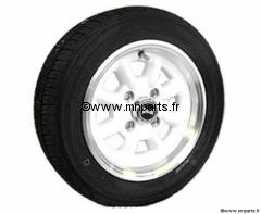 Pack 4 jantes & pneus 5x12'' Blanche SUPERLIGHT gros déport Austin Mini