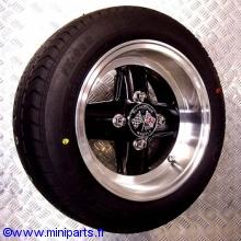 Pack 4 jantes pneus 6'' par 12'' Revolution Noir Austin Mini