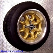 Pack 4 jantes pneus 6'' par 12'' Gold SUPERLIGHT Austin Mini