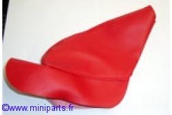 Soufflet de frein à main rouge.Austin Mini