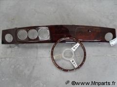 Tableau de bord en bois clair Austin Mini