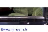 Baguette chromée, lèche vitre extérieur côté Gauche(conducteur) Austin Mini