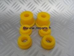 Kit silent bloc polyuréthane berceau arrière Austin Mini