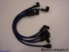 Cables bougies et bobine 8mm Jaune, Rouge ou Bleu. Austin Mini
