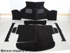 Moquette 10 pièces 'noir' finition luxe. Austin Mini