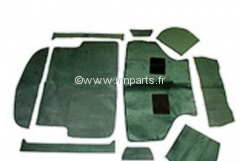 Moquette 10 pièces 'Vert' finition luxe. Austin Mini.