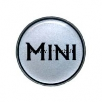 Badge autocollant 'MINI' silver 42 mm. Austin Mini.