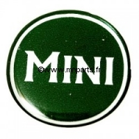 Badge autocollant 'MINI' vert 42 mm. Austin Mini.