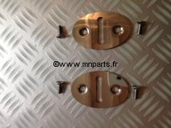 Kit de Gache/Platine de Porte Inox 1960-2000. Mini austin.