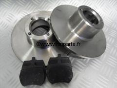 kit de freins avant : 2 disques / 4 plaquettes 8,4'' type origine.  Austin Mini