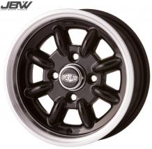 Pack 4 jantes & pneus 5x12'' noir SUPERLIGHT gros déport Austin Mini