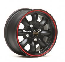 Pack 4 jantes et pneus 5.5'' par 12'' noir mat Austin Mini