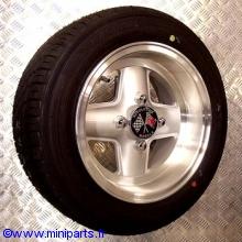 Pack 4 jantes pneus 6'' par 12'' Revolution silver Austin Mini