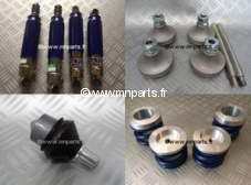 Pack suspension Gaz Shock réglable court + ressorts