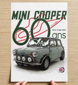 Affiche A3 La Châtre 2021 - 60 ans Mini Cooper