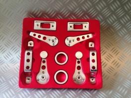 Kit 10 pièces d'intérieur en aluminium. Austin Mini