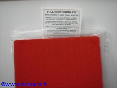 Fond de coffre complet rouge Austin Mini