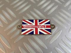 Plaque Union Jack métal. Austin Mini