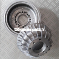 Paire de tambours aluminium arrière