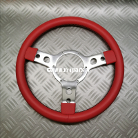 Volant 13'' type Mountney simili cuir Rouge 